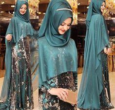 Top 20 latest Hijab styles of 2019 Muslim Wedding Dresses, Muslim Dress, Wedding Abaya, Islamic Fashion, Muslim Fashion, Habits Musulmans, Hijabi Gowns, Abaya Mode, Hijab Evening Dress