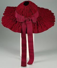 Picture hat  Sally Victor  (American, 1905–1977)    Date:      1939  Culture:      American  Medium:      Wool, silk