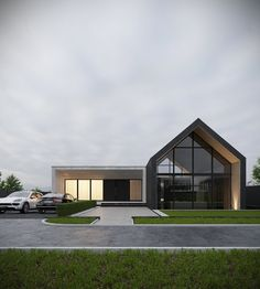 Modern house exterior - Showcase and discover the latest work from top online portfolios by creative professionals across industries Modern Barn House, Modern House Design, Small House Design, Exterior Tradicional, Latest House Designs, Dream House Exterior, Facade House, Home Fashion, Exterior Design