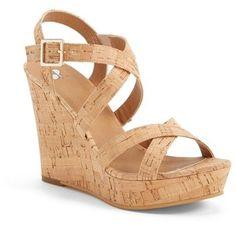 Women's BP. 'Summers' Wedge Sandal, Size 7.5 M - Beige
