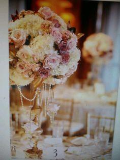Blush pink, ivory, gold, wedding centerpiece, gorgeous