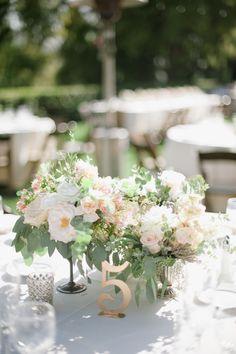 centerpiece inspiration hazelnutphotography.com  Read More: http://www.stylemepretty.com/california-weddings/2014/08/25/romantic-maravilla-gardens-wedding/