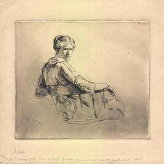 Gertrude, etching © 2012 Carl Schmitt Foundation