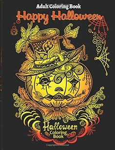 Adult Coloring Book Halloween For Stress R