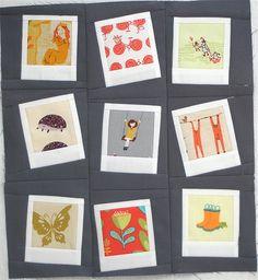 Polaroid Fussy Cut Quilt Block