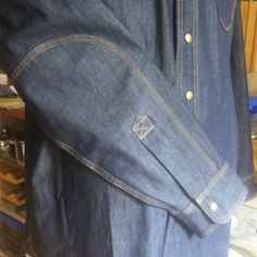 The 1920s Denim Shirt crafted by myself @HarbourDenim - Detail