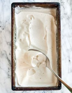 This vegan ice cream is the real deal. Yes, it's creamy. Yes, it tastes like a real dessert that you'd drizzle with caramel sauce and sprinkle with nuts. Yes, it's dairy-free and vegan too (no eggs!). How To Make Dreamy Dairy-Free Vegan Ice Cream - Recipe