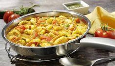 Knackige Zuchhini, saftiger Schinken und aromatische Tomaten alles vereint in der Gnocchi-Pfanne von MAGGI.