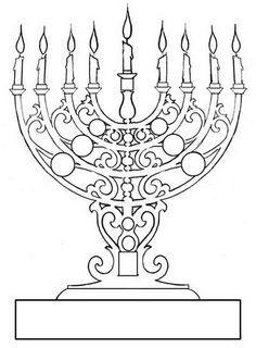 coloring page of menorah