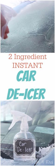 Cars hacks 2019 2 Ingredient Homemade Car De-Icer Spray - Removes Ice In Seconds: 2 parts Isopropyl Alcohol and 1 part water