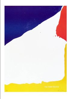 Paris Review, Helen Frankenthaler, 1966, 22 x 17.5, 5500usd, limited edition print, (blue, orange and yellow) on domino.com holiday 2013 issue, Primary Focus