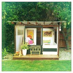 this gorgeous playhouse by Meri Cherry