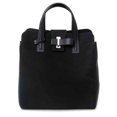 11a3c1084aa Labellov Delvaux Contemporian Tote Black Suede Leather ○ Buy and Sell  Authentic Luxury
