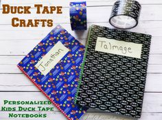 Duck Tape Crafts   Personalized Kids Duck Tape Notebook craft
