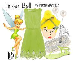 Tinker Bell by leslieakay on Polyvore featuring Oscar de la Renta, BCBGeneration, Dorothy Perkins, Disney, Henri Bendel, disney, disneybound and disneycharacter