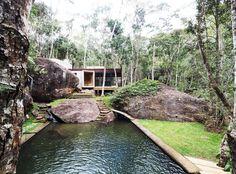 Gallery of Natural Pool Support Pavilion / Gaudenzi Arquitetura - 1