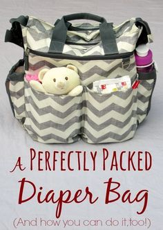 Because there is an art to packing that diaper bag. diapers from www.diaperdabbler.com in perfectly packed 3 packs, fit beautifully in a diaper bag. A Perfectly Packed Diaper Bag (plus tips for organizing your own diaper bag and a free printable checklist) Keep all that baby stuff organized.