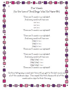 5 vowels song