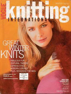 VOGUE KNITTING Winter 2000-01 Fair Isle Sweaters Lace Skirt Faux Fur Men Pattern #VogueKnitting #KnittingPatterns