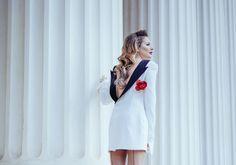 Rochie- Sacou | Laura Cosoi Up Hairstyles, Coat, Fashion, Moda, Hairdos, Sewing Coat, Fashion Styles, Peacoats, Fashion Illustrations