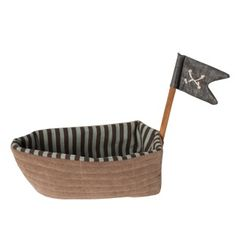 These cute rattles and pirate ship from Maileg are perfect for stimulating young minds and developing imaginative thinking. The retro style toys will look great Bateau Pirate, Modern Dollhouse Furniture, Dollhouse Toys, Pirate Theme, Decorative Items, Baby Gifts, Shabby Chic, Fabric, Room Decorations