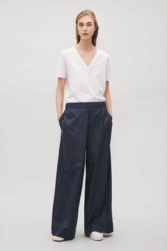 COS | Wide-leg cotton trousers
