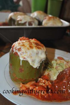 Momma's Stuffed Roasted Bell Peppers http://cookingwithserena.com/?p=315728