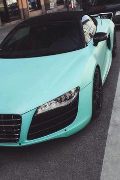 Mint Audi R8 Spyder | LadyLuxuryDesigns