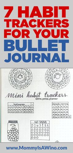 7 Habit Trackers for your Bullet Journal - Plus 50 ideas of habits you can track