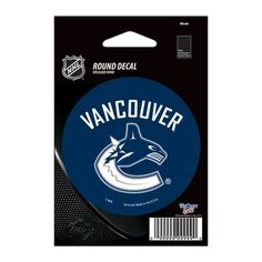 "Vancouver Canucks Vinyl decal 3"" x 3"""