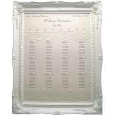 Framed Wedding Table Plan - Table Plan - Use paper doilies to add interest and tie in theme Seating Plan Wedding, Wedding Table, Our Wedding, Dream Wedding, Seating Plans, Table Seating, Wedding Stuff, Table Planner, Cute Wedding Ideas