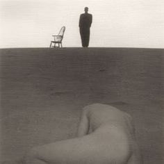 Shoji Ueda - . Famous in his work   the sand dunes of Tottori  appear as sole subjects or as backgrounds to portraits and even fashion photography.