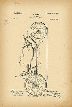 1901 Patent Bicycle • Buy this artwork on stationery and wall prints.