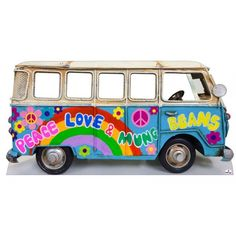 Head in the Hole Party Standins Cardboard Cutouts and Photo Props for Parties, Small Theatre and Events Hippie Party, Hippie Birthday, 70s Party, Disco Party, Decade Party, Cardboard Bus, 60s Theme, 60s Party Themes, Flower Power Party