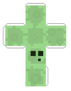 Minecraft Papercraft Templates | used the outside layer and drew on the eyes.