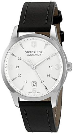 Men's Wrist Watches - Victorinox Unisex 249034 Alliance Analog Display Swiss Quartz Black Watch *** You can find out more details at the link of the image.