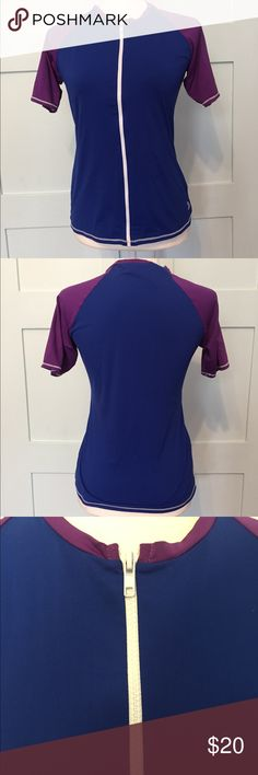 Tommy Bahama women's rash guard Never worn blue and purple rash guard with zipper. Size L Tommy Bahama Swim