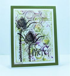 By Karen Dunbrook. Ink and spritz inside of an embossing folder; then lay cardstock on it to make a print. See Karen's website for more details. Embossing Machine, Embossing Folder, Card Making Tutorials, Making Ideas, Merida, Distress Oxides, Cool Cards, Thank You Cards, Card Stock