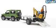 Bruder - Land Rover Arazi Aracı Ve JCB Mini Kazıcı - 02593