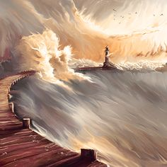 Well, I'd say this was my first 'training' with the Wacom.. Reference for this piece: on shore of the sky