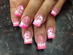 Fading pink and white - Nail Art Gallery
