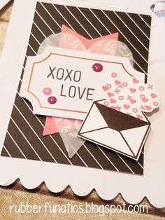 Good Morning, Stampers! Welcome to the A Paper Pumpkin Thing Blog Hop! The Heartfelt Love Notes kit for Janaury is unique and fun...