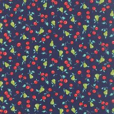 Bonnie and Camille Vintage Picnic Cherries by AHouseFullofThread