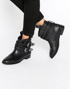 ASOS | Ботинки в стиле вестерн без застежек ASOS ALAR