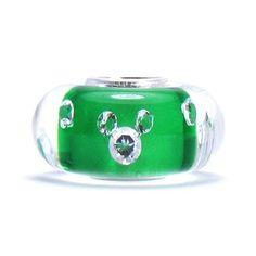Bella Fascini Green MICKEY - Clear CZ Suspended in Murano Glass - Solid .925 Sterling Silver Core European Charm Bead - Compatible Brand Bracelets : Authentic Pandora, Chamilia, Moress, Troll, Ohm, Zable, Biagi, Kay's Charmed Memories, Kohl's, Persona & more! Bella Fascini Beads,http://www.amazon.com/dp/B007Q5SNF6/ref=cm_sw_r_pi_dp_7VESsb086EQ4NN69