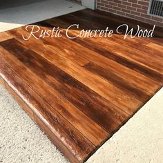 😃Transforming regular concrete into the look of Rustic Wood can be a very profitable addition to your contracting business!