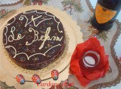 Torta con fondue di cioccolata e crema al marsala