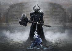 Morgoth and Fingolfin. by helgecbalzer on @DeviantArt