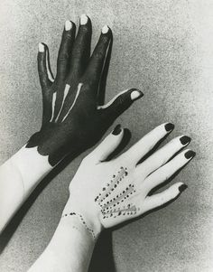 Man Ray, Hands painted by Picasso, 1935