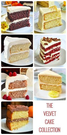 The Velvet Cake Collection - a collection of 9 different versions of a soft, tender, moist, homemade scratch cake like you've never tried. From Lemon and Red Velvet to Chocolate Velvet, there's a favourite here for everyone.